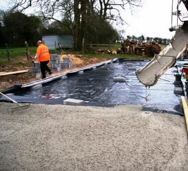 Pouring Cement