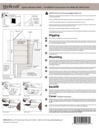 Wellcraft Egress Installation model 5600