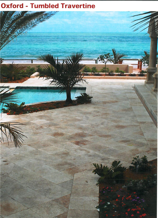 Oxford Travertine Pool Deck