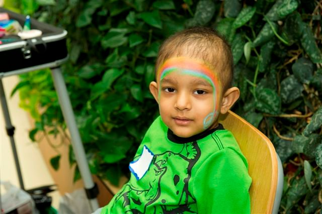 When the children were not looking for eggs they had a chance to visit the face painting booth.