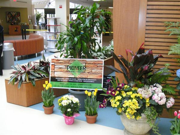 Beautiful flowers donated by Hicks Nursery.