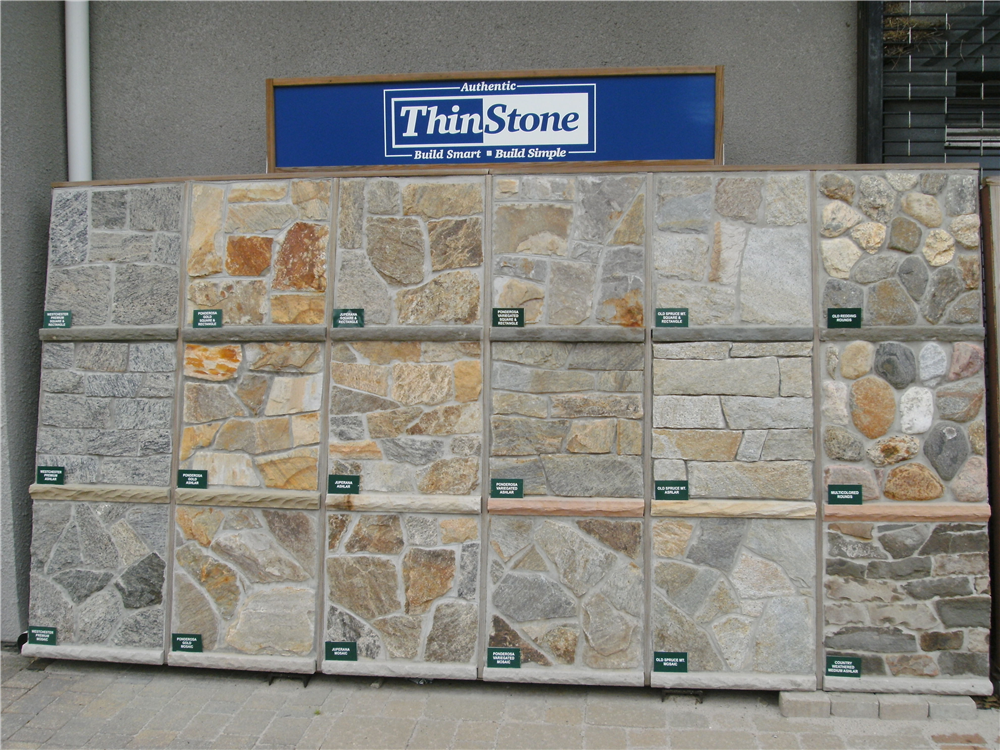 A great display to help you pick out the perfect stone for your project.