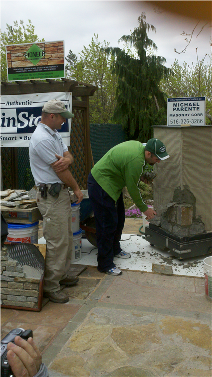 Mike oversee our customer to ensure he understands the installation process.