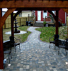 backyard path