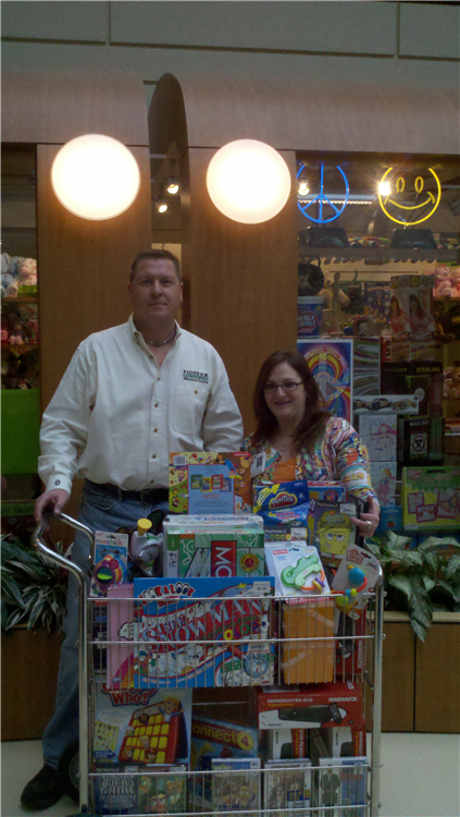 With the help of our great supporters we were able to donate many great toys, games and videos.